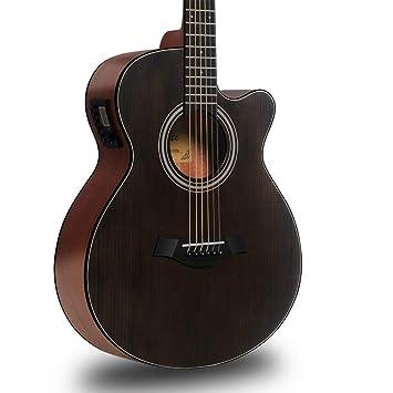 Guitarra HuAma Instrumento Musical Acústica De La Chapa Eléctrica De La Caja Entrada De Los Estudiantes Masculinos Y Femeninos De 40 Pulgadas (Color del ...