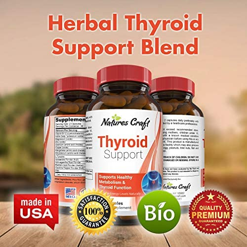 Thyroid Support Complex Blend Vitamin B12, Zinc, Copper, Selenium, Iodine Increase Metabolism and Energy Supplement for Men and Women Weight Control and Weight Loss Pills 9