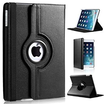 Gioio Bazaar 360 Degree Rotating Pu Leather Stand Case Cover for Apple ipad 2 3 4 Black  Tablet Accessories