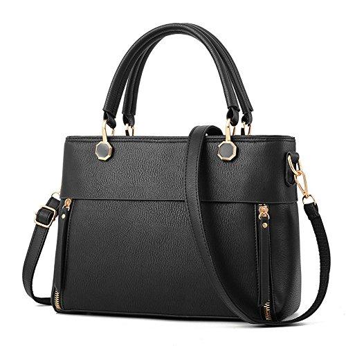 BAILIANG Womens PU Shoulder Bag Crossbody Sac à Main Quotidien Mode Casual Black