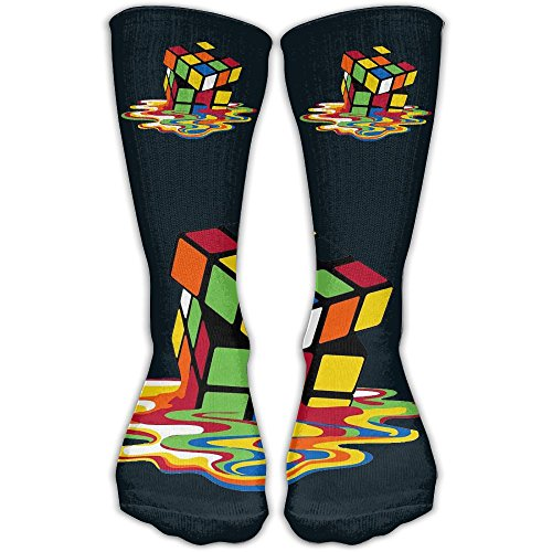 Price comparison product image Rubik's Cube Sport High Socks&Crew Socks For Man's And Women's One Size 30cm