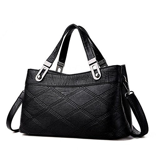 GWQGZ Nuevo Bolso Casual Lady Handbag Rosa Black