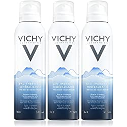 Vichy Mineralizing Thermal Water Face Mist Spray from French Volcanoes, 3-Pack