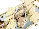 Halvah Assorted (30 Oz) - Tahini Halva 3 Varieties: Pistachio, Marble Chocolate & Plain - Flaky Turkish Halawa Tahini