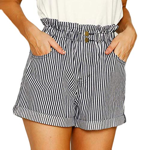 (Skirts for Teens,Sale Summer Women Stripe High Waist Tightness Pocket Easy Shorts Short Pants)