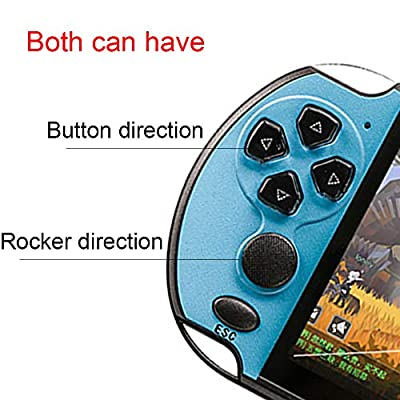X7 Plus Built-in Free 10000 Games Handheld Double Rocker Hd Music Portable LCD Camera 8G Movies Game Console Video Kids MP5 Rechargeable Birthday Gifts Presents for Kids Childern (Red&Blue): Toys & Games