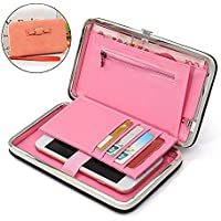 BANQLYN Wallet Women Famous Brand Card Holders Money Bag Clutch Mobile Wallet Makeup Kit (Colour May Vary)