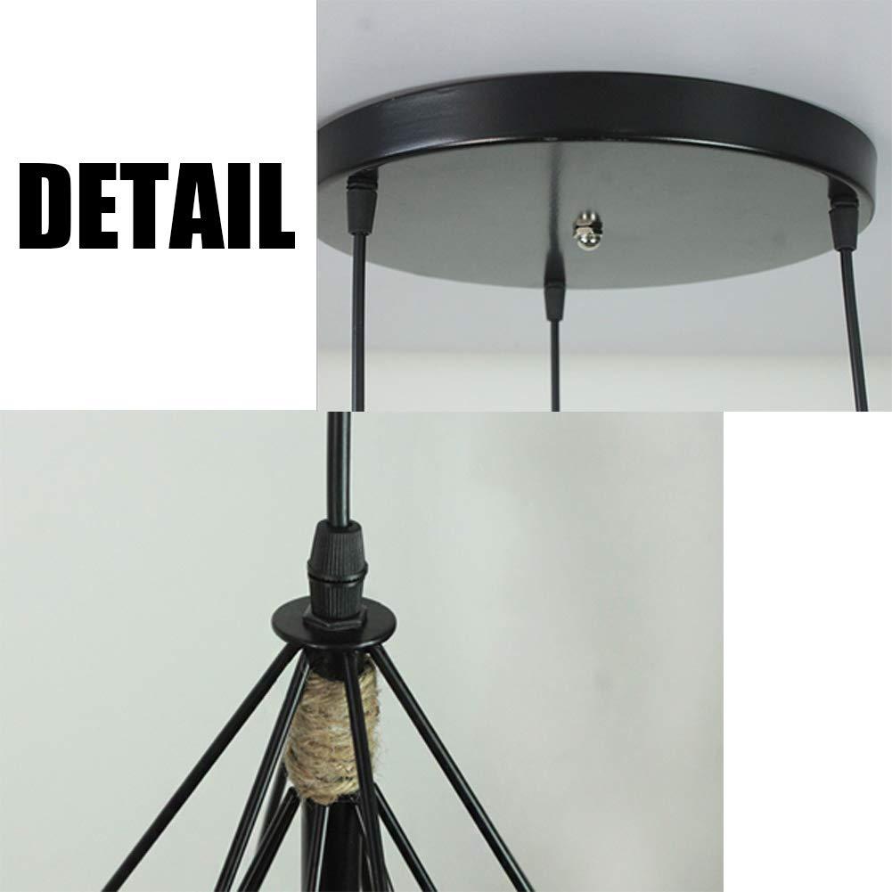 Amazon.com: Cadena de cáñamo con forma de diamante, lámpara ...