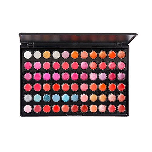 (ELLITE Styles Professional 66 Colors Shimmer and Matte Lip Gloss Lipstick Makeup Cosmetic Palette)