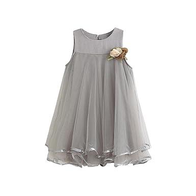 07098d64768e1 Rawdah Grand ourlet Princesse Robe + Corsage Mignon Toddler Filles Robes En  Mousseline De Soie Sans