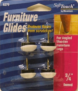 Waxman 4627995 Nail On Domed 3/4 Furniture Silent Glides