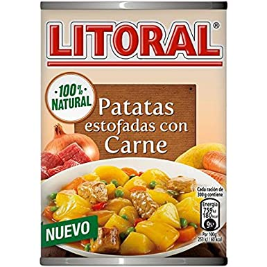Litoral Guiso de Patatas Estofadas con Carne - Plato Preparado Sin Gluten, paquete de 10 x 420 gr - Total: 4.2 kg: Amazon.es: Alimentación y bebidas
