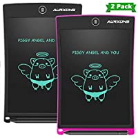 AURXONS LCD Writing Tablet Electronic Writing Drawing Doodle Board Erasable 8.5-Inch Handwriting Paper Drawing Tablet for Kids Adults at Home School Office