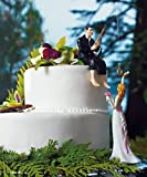 Hooked on Love Cake Toppers - Bride and Groom Set