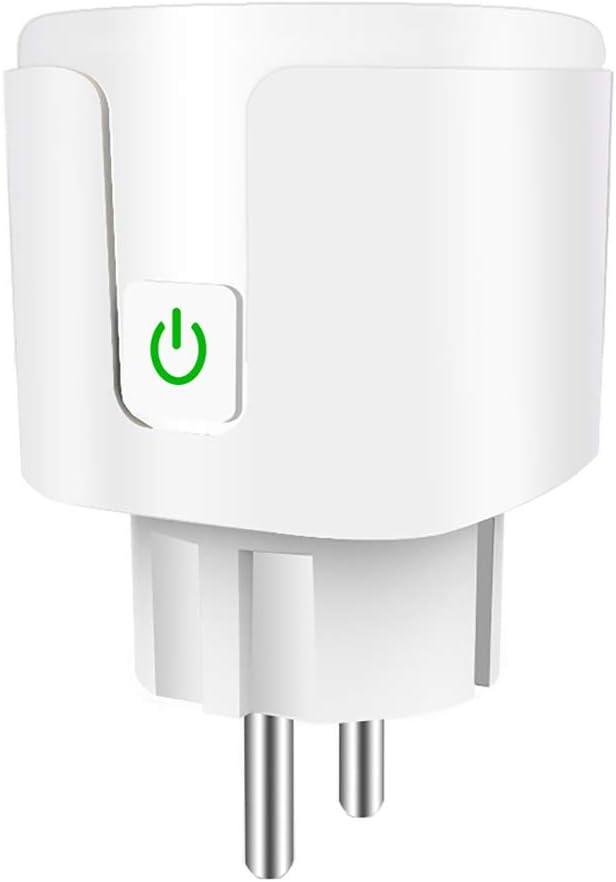 LEEBA Enchufe Inteligente WiFi 16A,Mini Smart Plug,Funciona con  Alexa Google Home,Control de voz Control Remoto Funci/ón de Temporizador