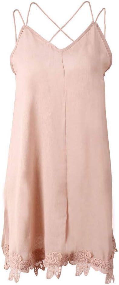 HZD Women Clothes Dress Open Back Sling V Neck Sleeveless Summer Dress Evening Party Beach Mini Dress Khaki