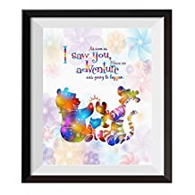 Uhomate Nursery Decor Winnie The Pooh Quotes Winnie Pooh Abstract Art Home Canvas Wall Art Anniversary Gifts Baby Gift Inspirational Quotes Wall Decor for Living Room Wall Decorations for Bedroom C094