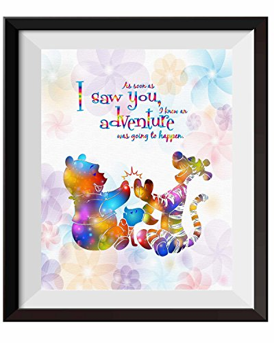Monitor The Winnie Pooh Baby (Uhomate Nursery Decor Winnie The Pooh Quotes Winnie Pooh Home Canvas Prints Wall Art Anniversary Gifts Baby Gift Inspirational Quotes Wall Decor Living Room Bedroom Artwork C094 (8X10))