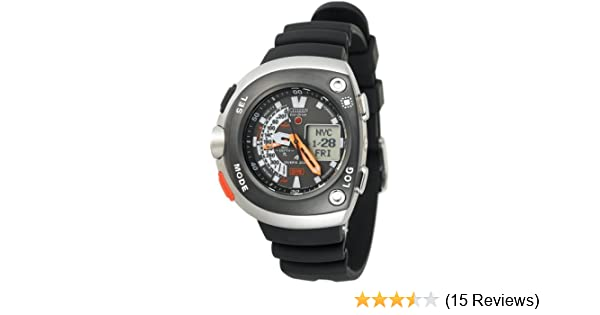 Amazon.com: Citizen Mens JV0030-01E Eco-Drive 20th Anniversary Aqualand Black Imperial Dive Watch: Citizen: Watches