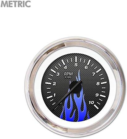 GAR297ZMXIABCC Aurora Instruments Carbon Fiber Blue Tachometer Gauge