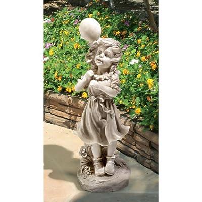 Design Toscano Jessie and Her Balloon Statue : Garden & Outdoor