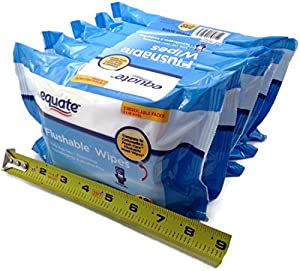 Equate Flushable Wipes 5-pack of 48 Ea. (240ct) from Equate