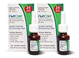 FlutiCare - 120 metered Nasal Sprays (2 Pack) - Fluticasone Propionate 50mcg - Relief During Allergy Season for Pollen, dust, Dander, and Other Indoor and Outdoor allergens