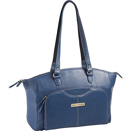 Clark & Mayfield Alder Leather 15.6 '' Laptop Handbag (Blue) by Clark & Mayfield
