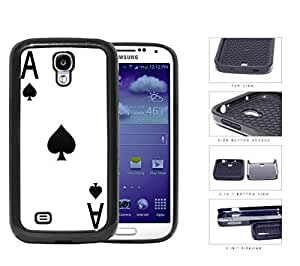 Ace Of Spades Playing Card 2-Piece Dual Layer High Impact Rubber Silicone Cell Phone Case Samsung Galaxy S4 SIV I9500