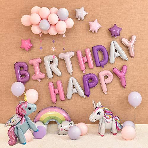Globos de unicornio para fiesta de cumpleaños, paquete de ...