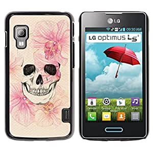 For LG Optimus L5 II Dual E455 E460 Case , Death Spring Meaning Deep Metal - Diseño Patrón Teléfono Caso Cubierta Case Bumper Duro Protección Case Cover Funda