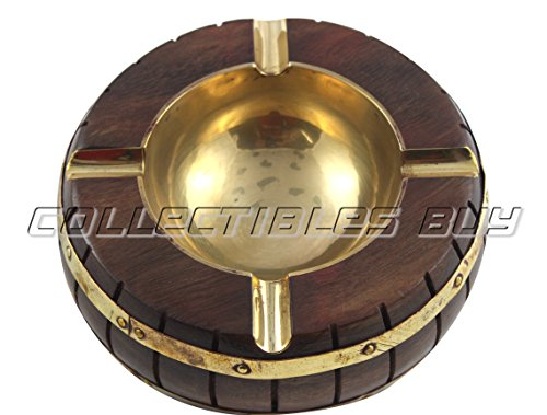 Collectibles Buy Brass And Wooden Round Ashtray Nautical Handmade Ashtray Smokers Choice Vintage Royal Mens (Collectable Brass)