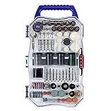 WORKPRO W124105A - Juego de herramientas rotativas (208 piezas, accesorios multifuncionales para cortar fácilmente, lijar, trabajar en madera, tallar, universal)