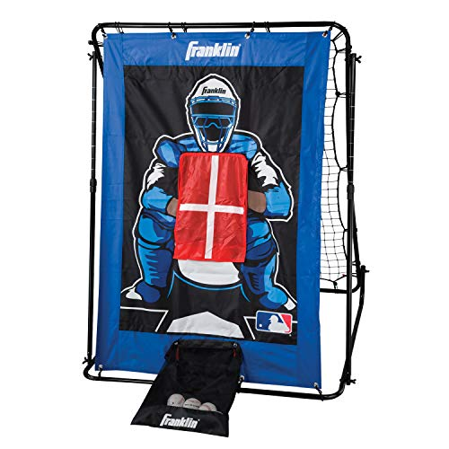 (Franklin Sports Pitch Back Baseball Rebounder and Pitching Target - 2 in 1 Return Trainer and Catcher Target - Great for Practices)