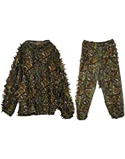 Fayme Ghillie kostym – 3D blad vuxen ghilliedräkt skog camo/kamouflage jakt hjort rekorder