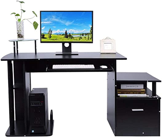 Asbjxny TV Stand Wood Computer desk table office workstation study ...