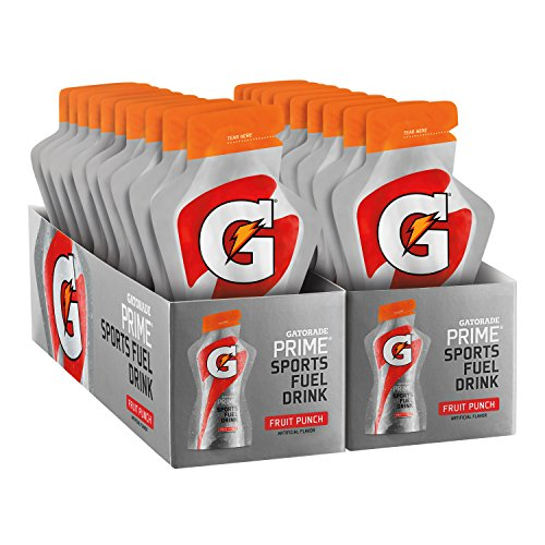 Gatorade Prime Sports Fuel Drink, Fruit Punch, 4 Ounce Pouches (Pack of 20)