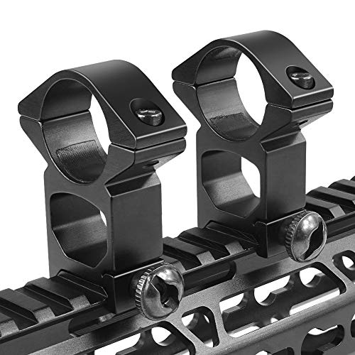 OTW High Profile Scope Mount Rings Weaver Style High Rise See-Thru for Weaver Rail Mount (Rise Rings)