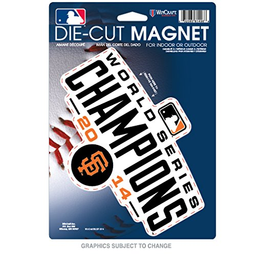San Francisco Giants Official MLB 6 inch x 9 inch Car Magnet