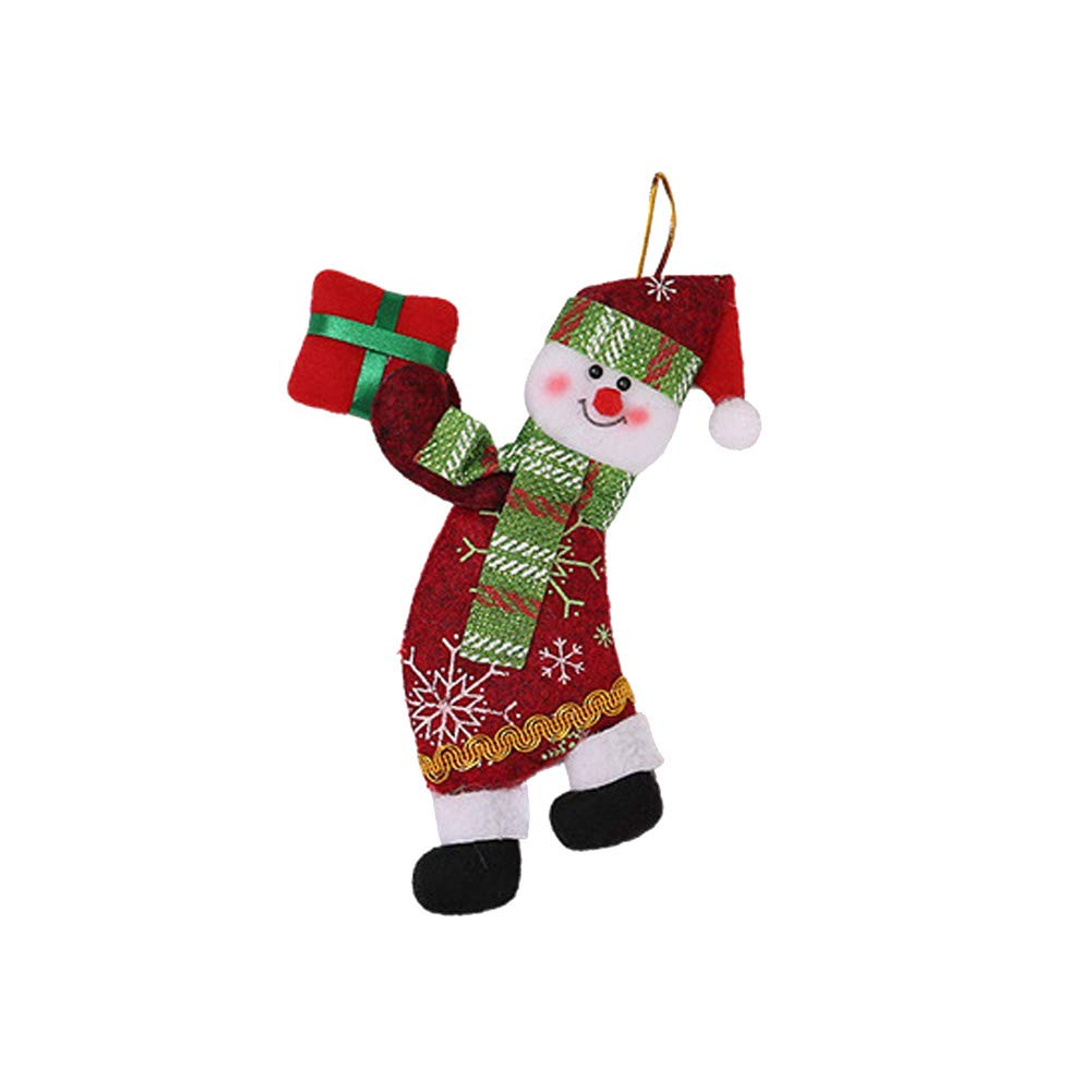 New Lovely Christmas Decor Cute Snowman Xmas Tree Hanging Ornaments Decoration