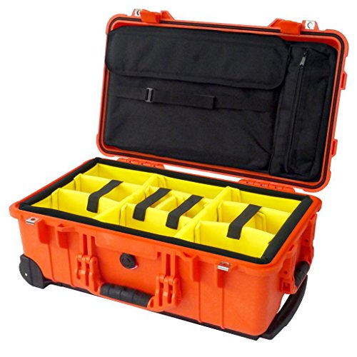 Orange Pelican 1510SC case with dividers and computer for sale  Delivered anywhere in USA