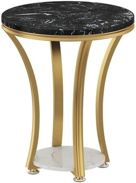100% Origineel Bijzettafels Hair 2-dier Marble Side, gebogen metalen frame, bank, tafel, 50 cm x 60 cm (verkrijgbaar in 3 kleuren) C IiaiGAa