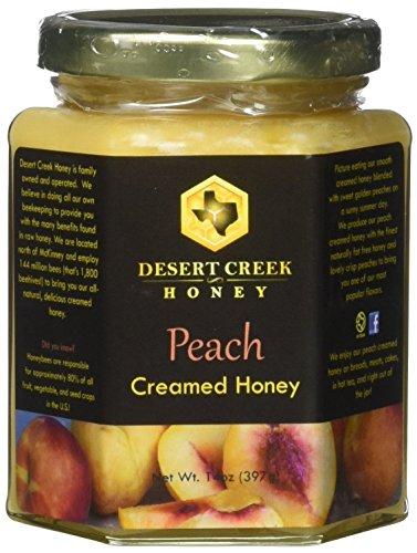 - Desert Creek Honey Peach Creamed Honey, 14 oz.