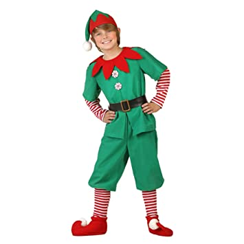 Exceptional BESTOYARD Christmas Elf Costume Set For Boys (140Cm_Green): Amazon.in: Home  U0026 Kitchen