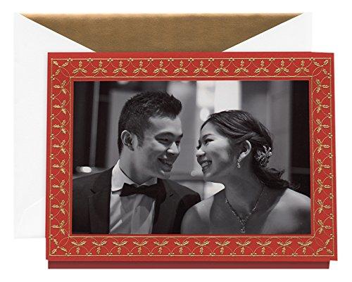 Crane Engraved Holly Holidays Photo Card (KP90475V)