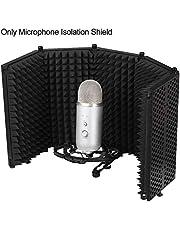 Nakw88 - Protector de aislamiento de micrófono plegable portátil, No nulo, negro, Tamaño libre