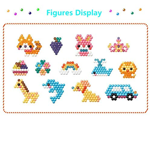 Educational Toys For Children 24 Colors 3600 pcs Water Spray Aqua Hama Beads DIY Kit Ball Puzzle Game Fun handmaking 3D Puzzle ()