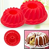 2Pcs Spiral Ring Cooking Silicone Mold Bakeware