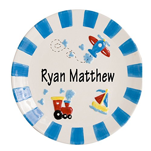 Boy's Personalized Plate Transportation