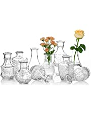 Glazen vaas voor bloemen Set van 10 Clear Vintage Bud Vaas Zoete Mini Erwt Vaas voor Tafel Middenstuk Indoor Decor Bruiloft